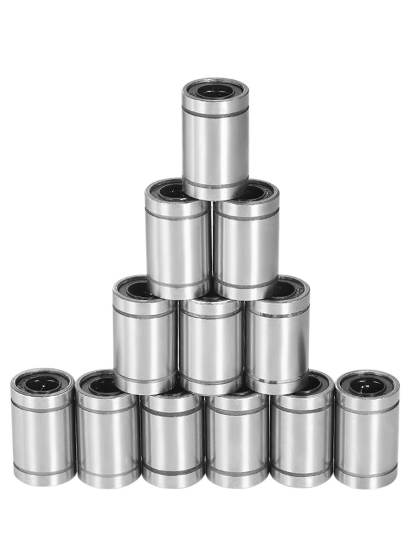 12-Piece LM8UU Linear Ball Bearing For 8mm RepRap Prusa 3D Printer Tool Silver