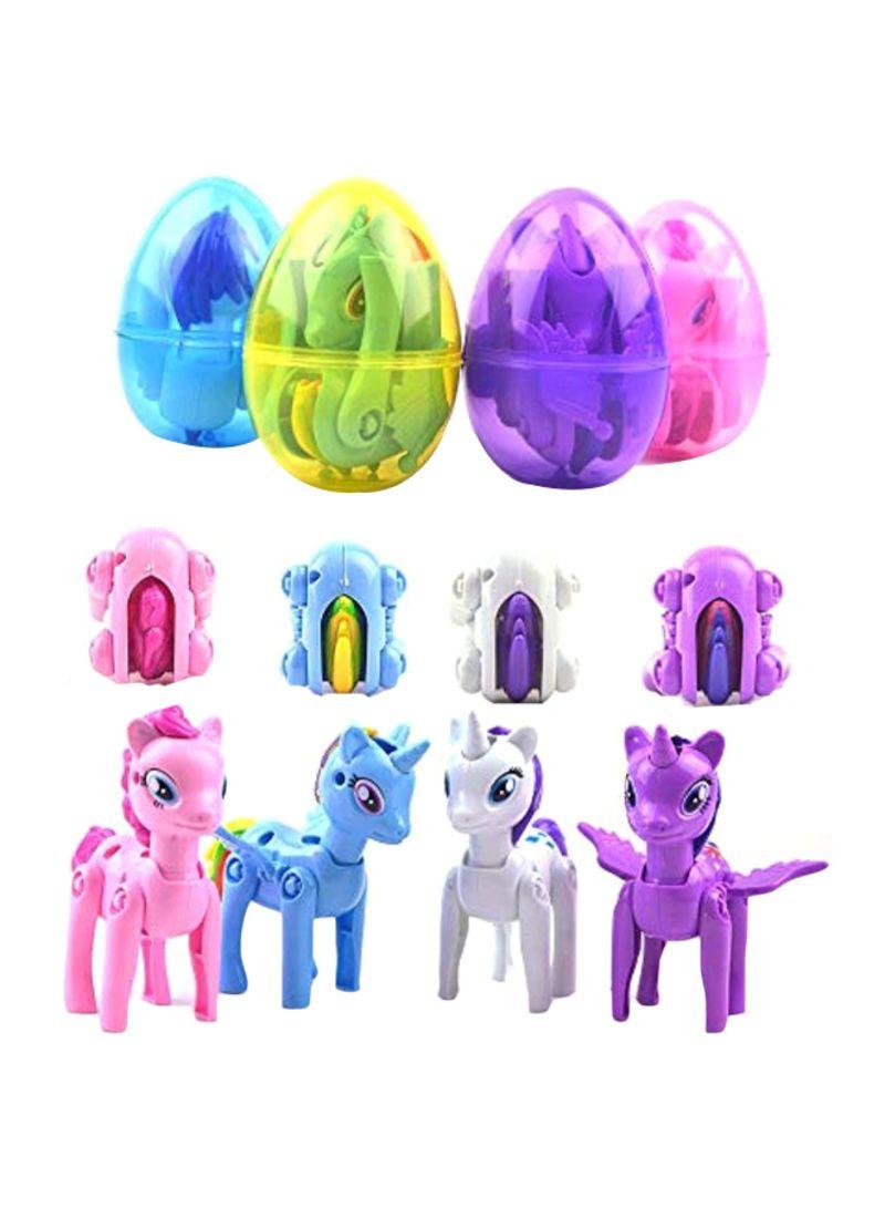 4-Piece Jumbo Unicorn Eggs Party Toy Set
