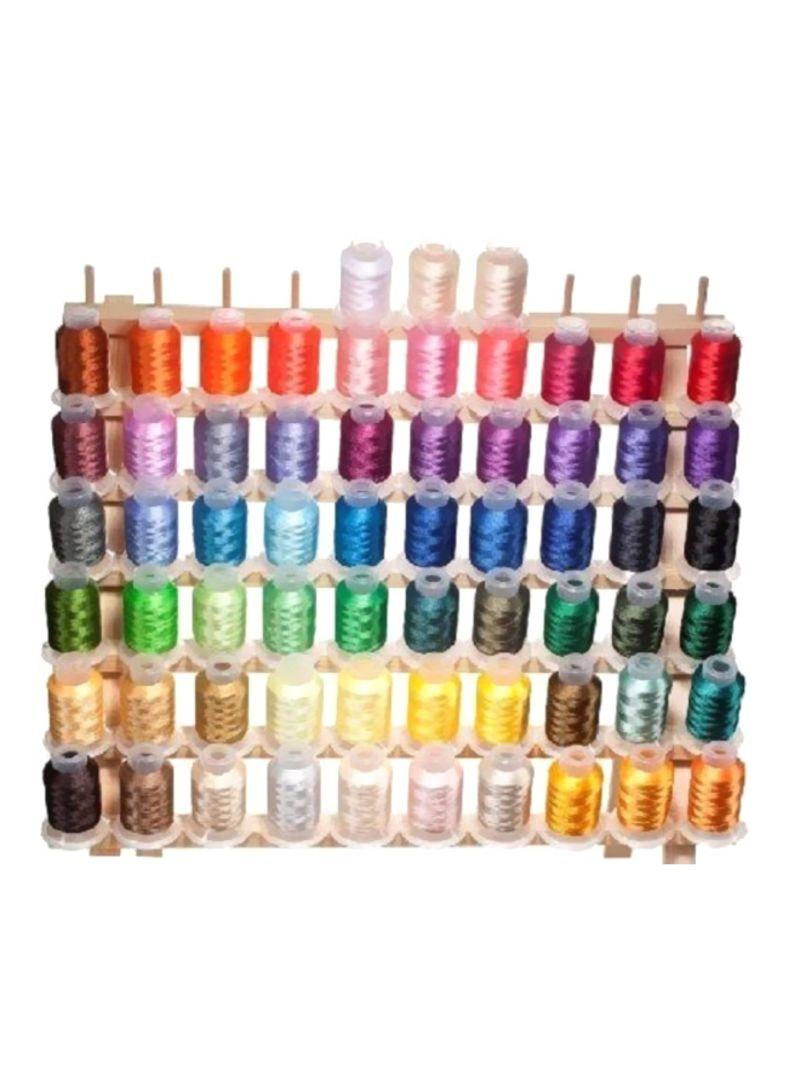 63-Piece Embroidery Machine Thread Multicolour 10.6x5.8x4.8 inch