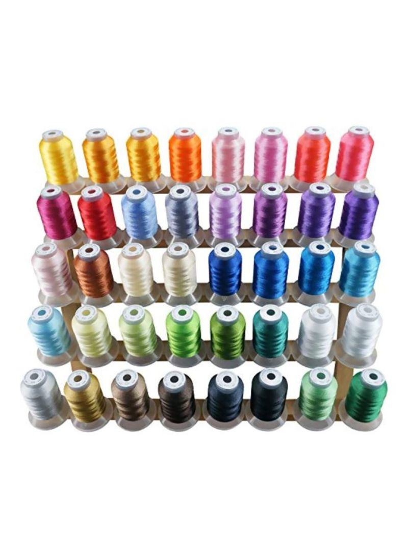 40-Piece Polyester Embroidery Machine Thread Multicolour 880 g