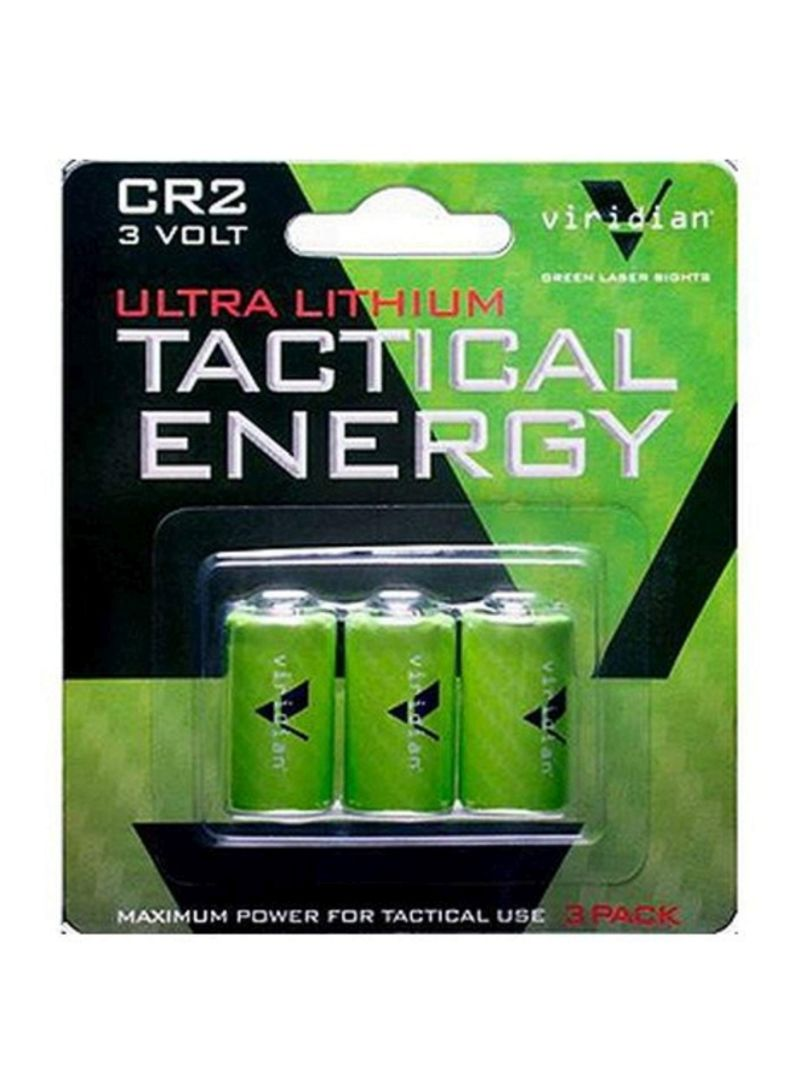 3-Piece Ultra Lithium Tactical Energy Batteries Green