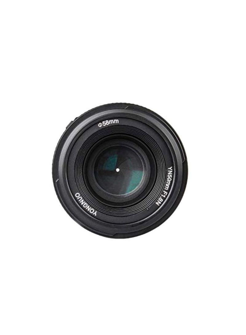 YN EF 50mm f/1.8 AF Lens For Nikon Cameras Black