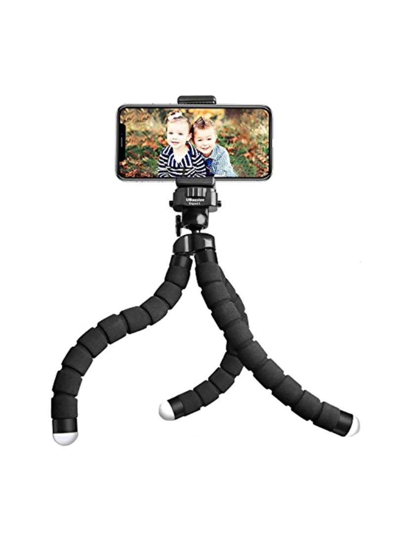 Tripod With Wireless Remote Shutter Black