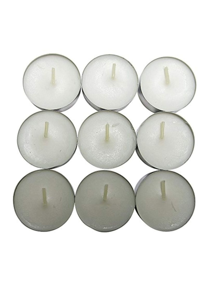 Pack Of 30 Tealight Candles White 1.5 inch