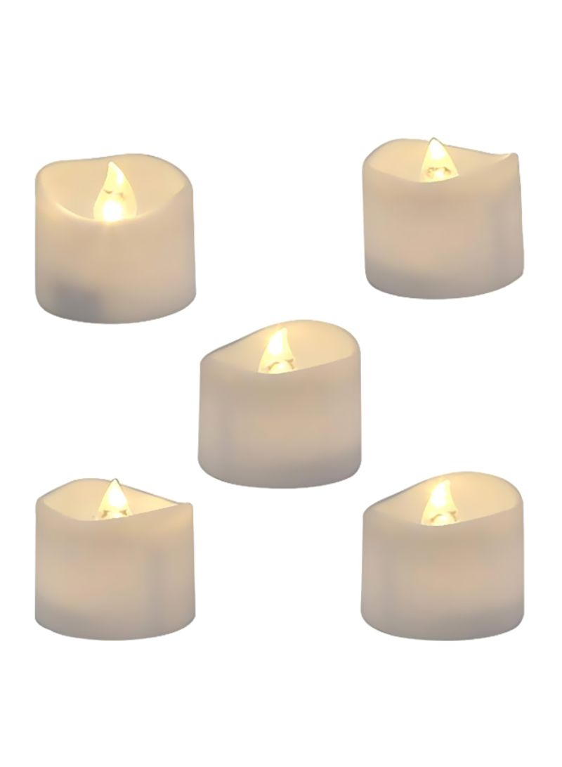 12-Piece LED Tea Light Candles White 1.4x1.25 inch