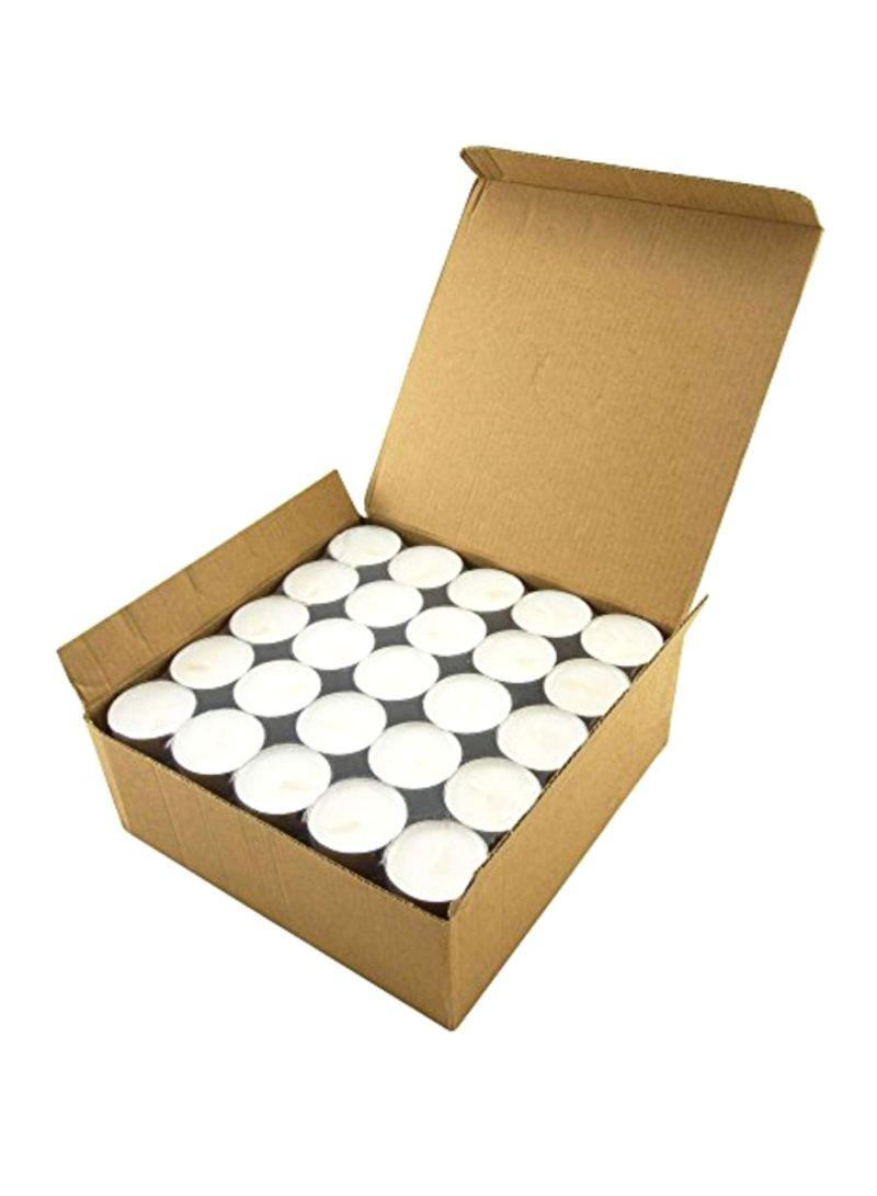 100-Piece Tea Light Candles Silver 7.9 x 3.1 x 8 inch