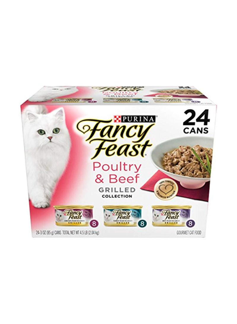 Poultry And Beef Collection Wet Cat Food Brown 85 g