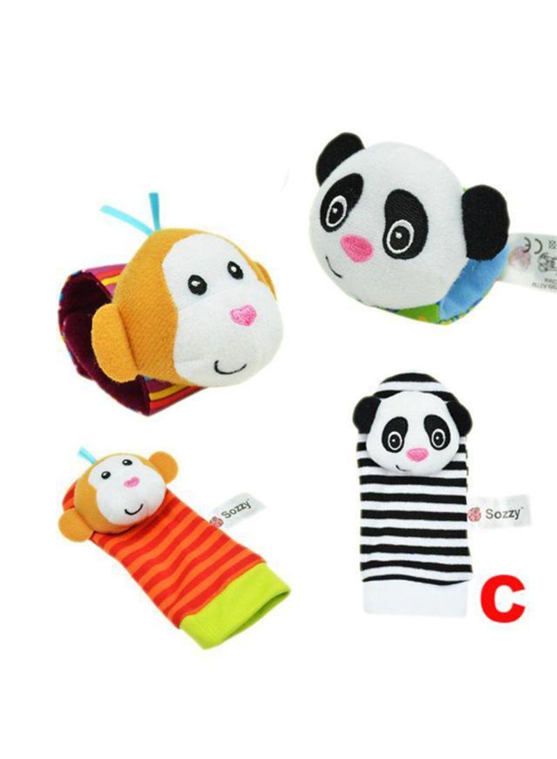 4-Piece Sozzy Garden Bug Socks And Wrist Soft Toys Set