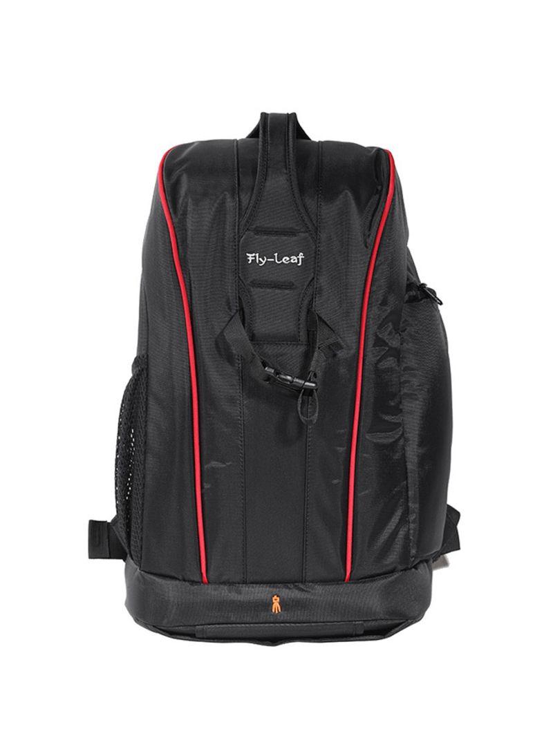 Water Resistant Camera Backpack Black