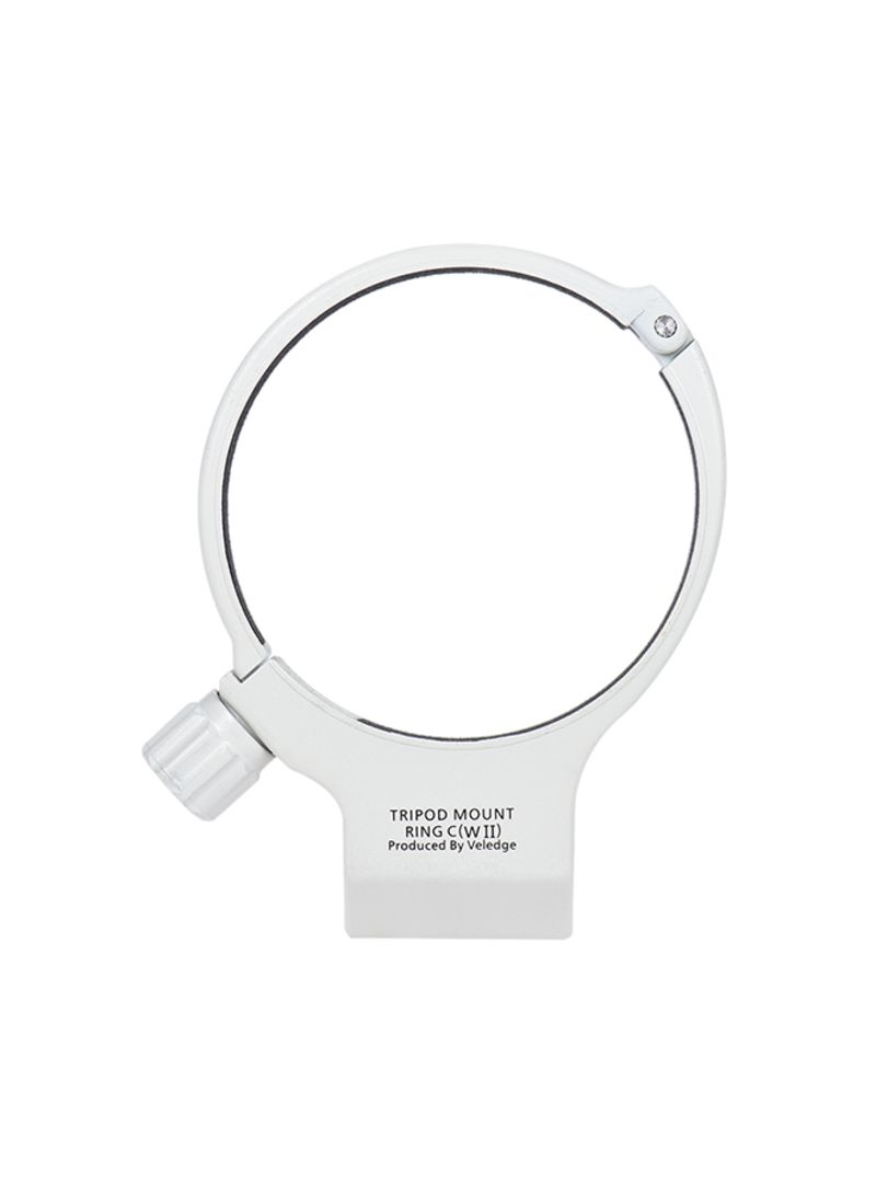 Tripod Collar Mount Lens Ring White
