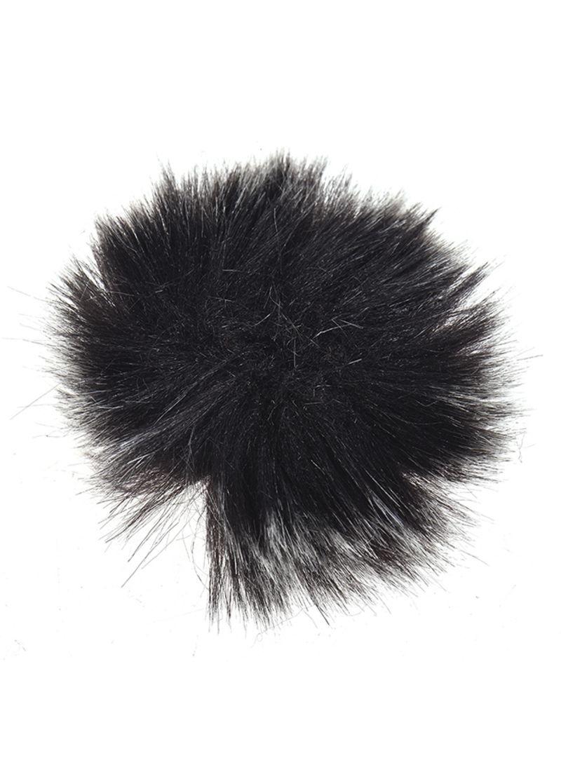 3-Piece Lapel Lavalier Microphone Windshield Set Black