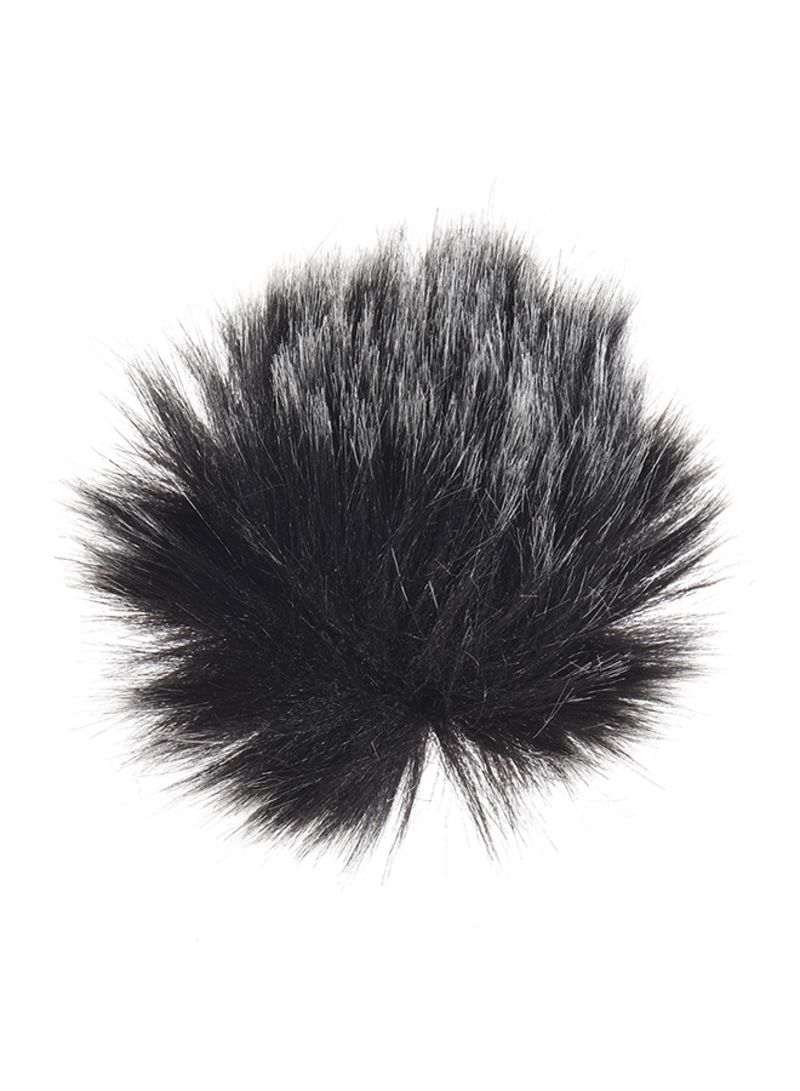 EY-m21 Furry Outdoor Microphone Windshield Black