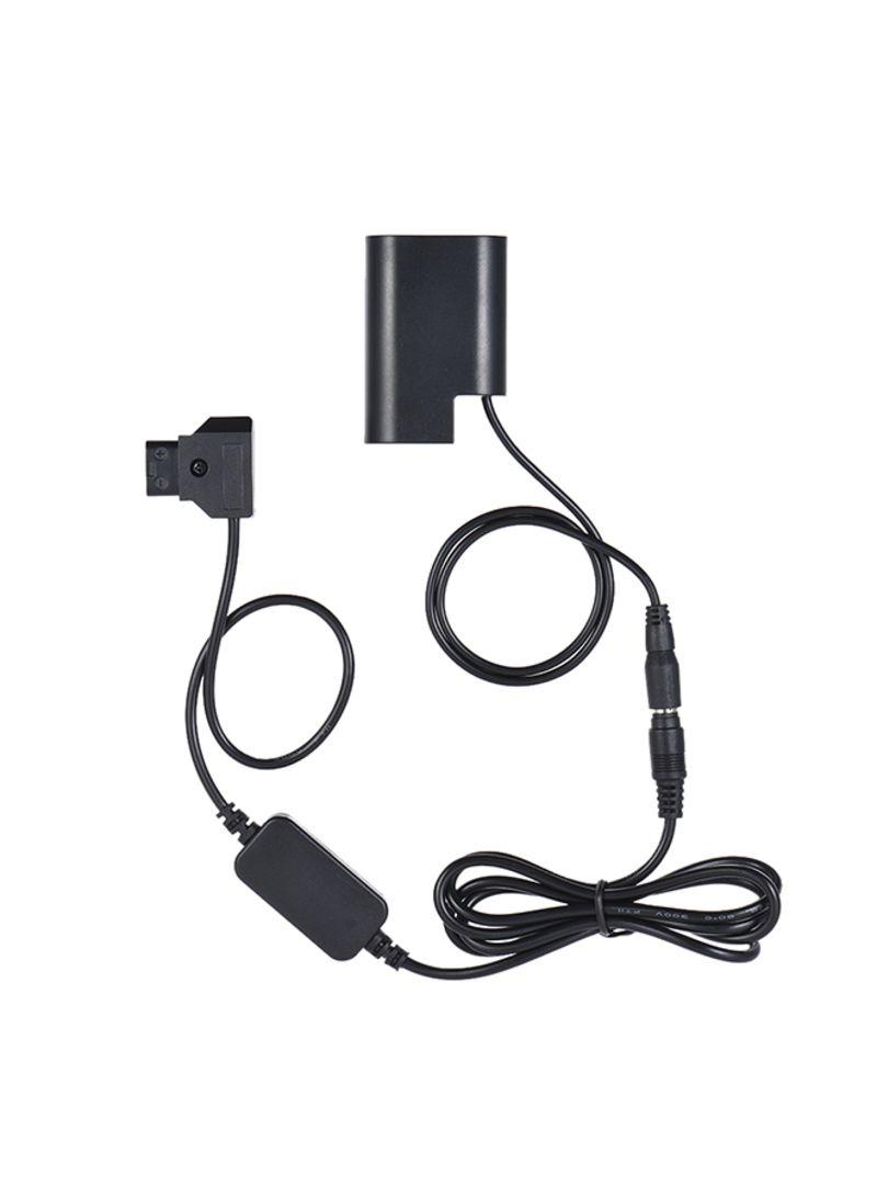 Camera Charging Adapter For Panasonic DMC GH5/GH4/GH3 Black