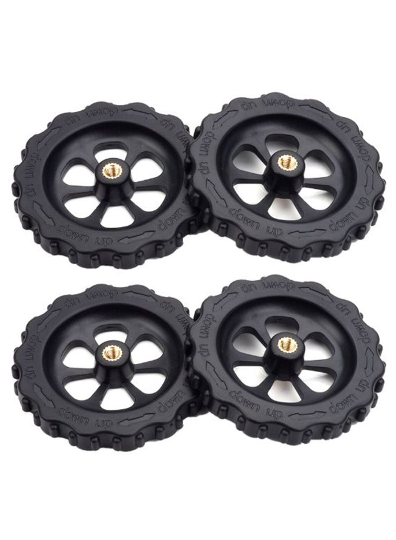 4-Piece 3D Printers Upgraded Auto Leveling Nuts Black