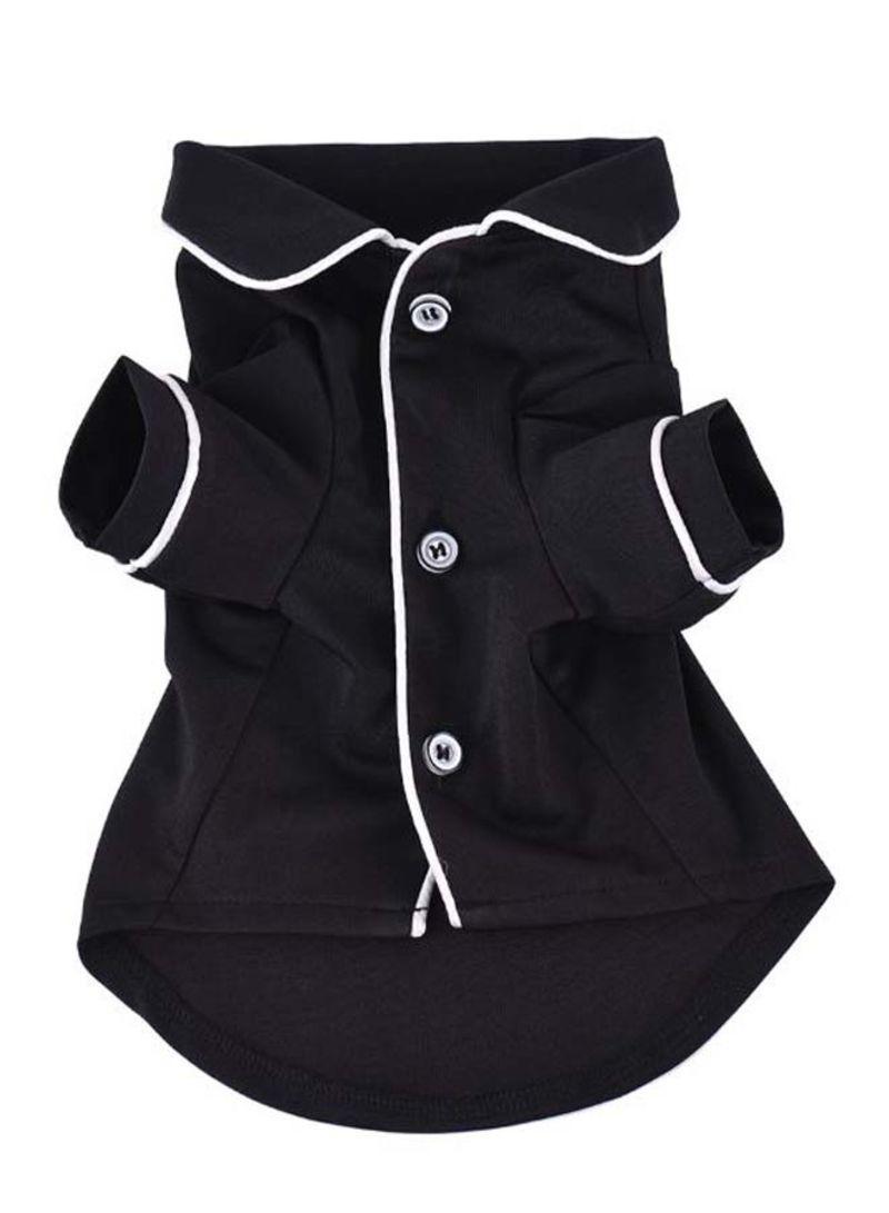 Soft Sleepwear Pajamas Shirt Black/White XS