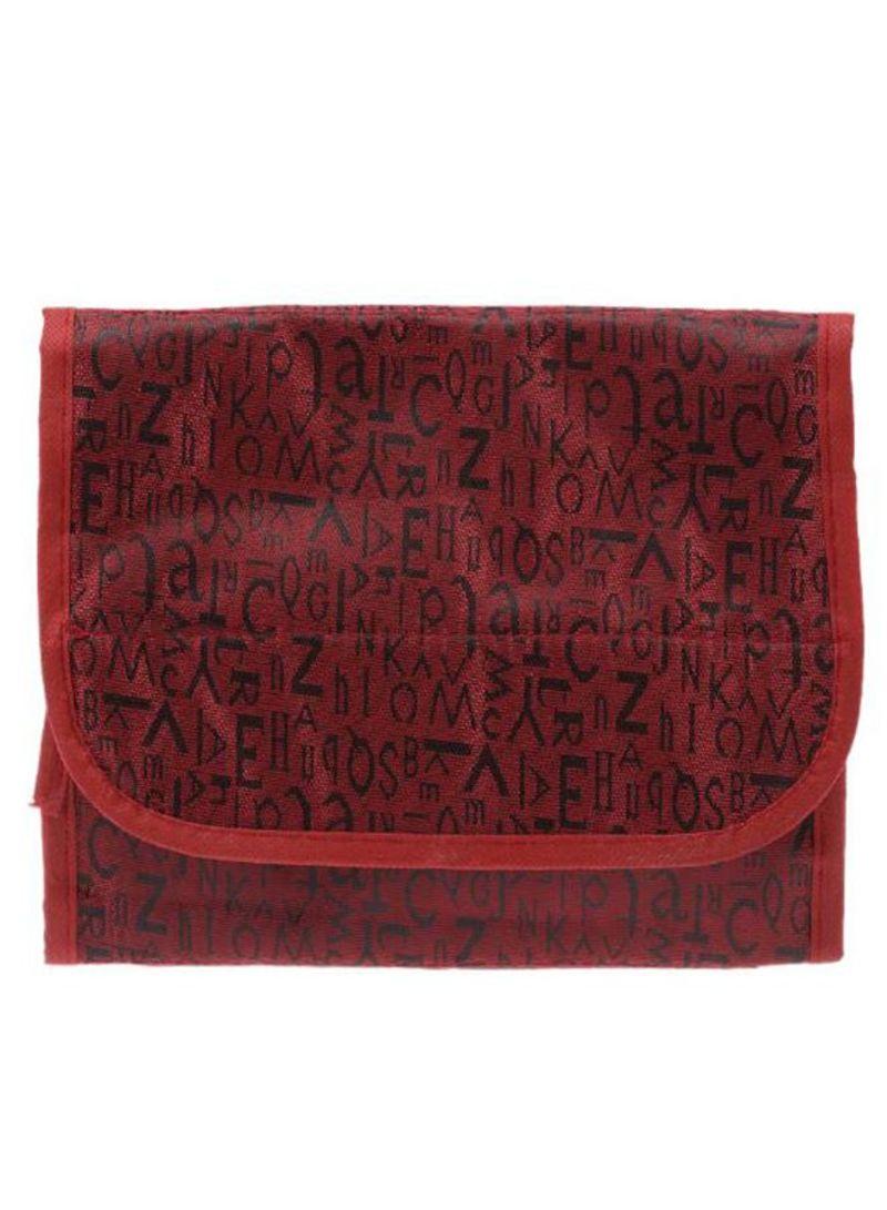 Travel Toiletries Waterproof Cosmetic Bag Red/Black