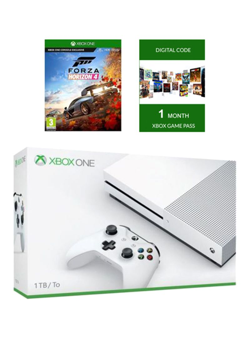 Xbox One S 1TB Console With 1 Game (Forza Horizon 4 And 1 Month Games Pass)