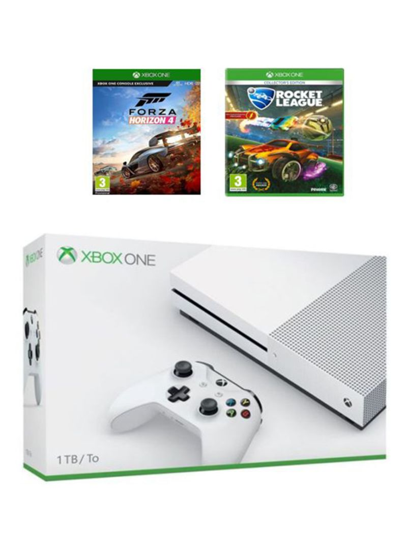 Xbox One S 1TB Console With 2 Games (Forza Horizon 4 And Rocket League)