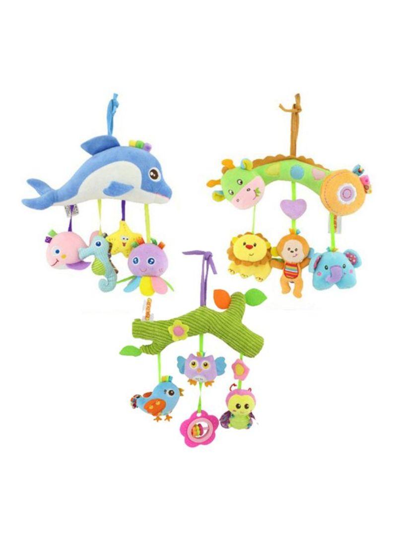 Bird And Flower Design Soft Crib Toy