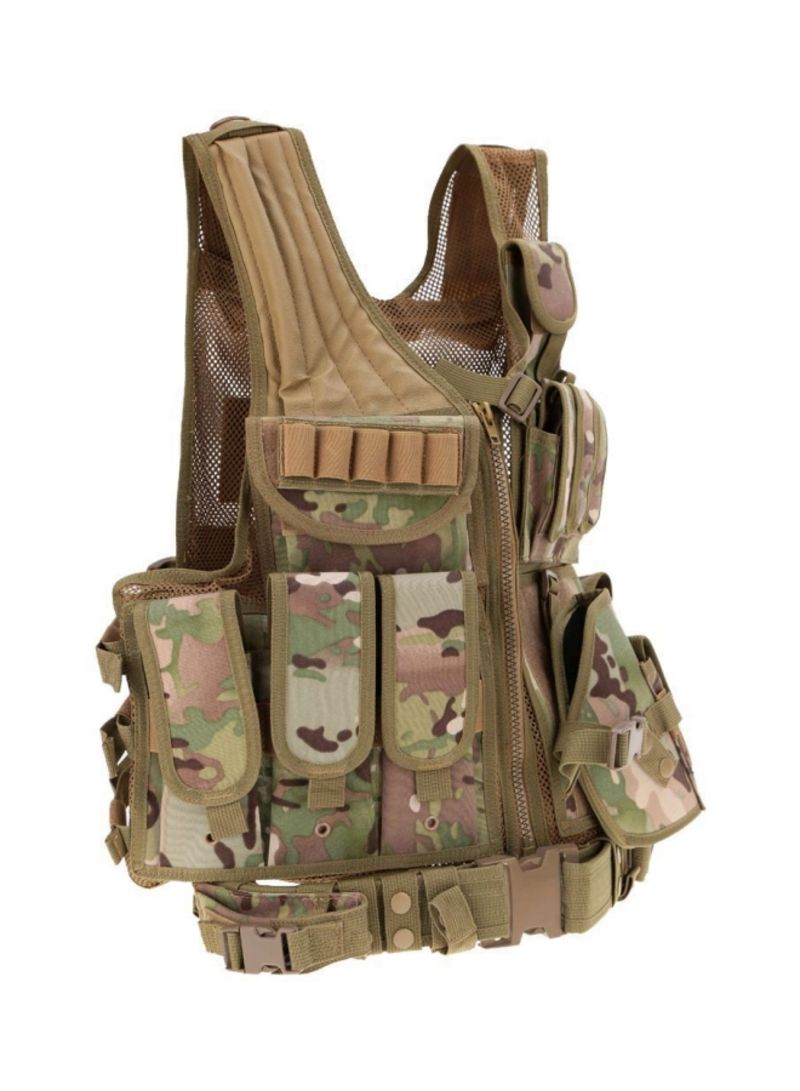 Polyester Tactical Army Hunting Vest for Camping Hiking