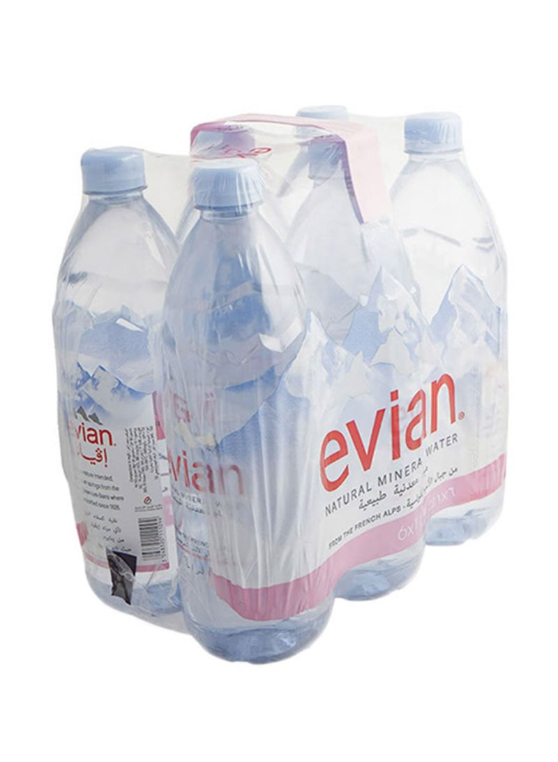 Natural Mineral Water 1 liter Pack of 6