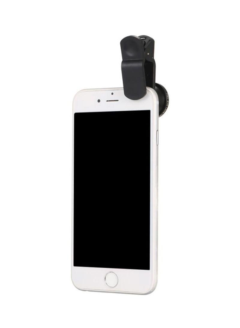 Clip-On Smartphone Camera Lens Black