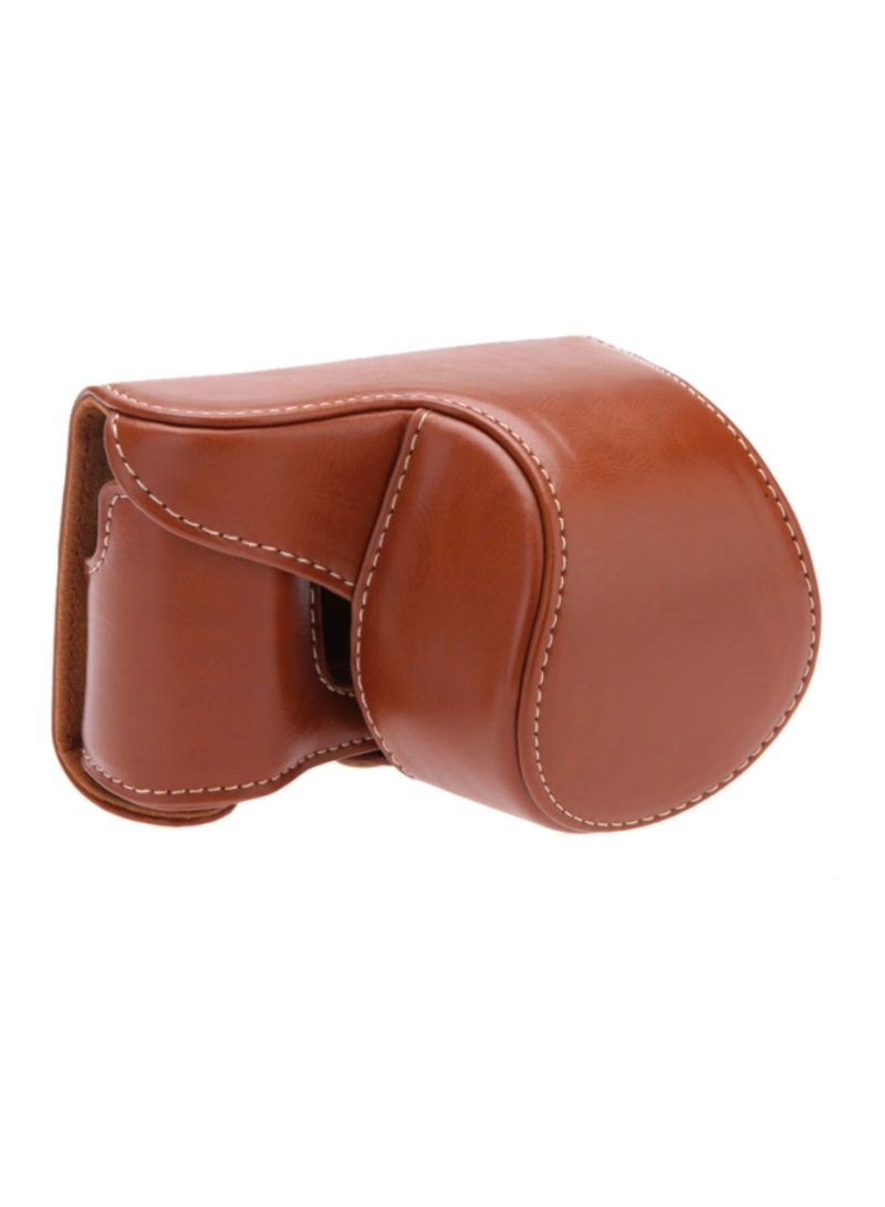 Camera Case Cover For Sony A5000 A5100 NEX 3N Brown