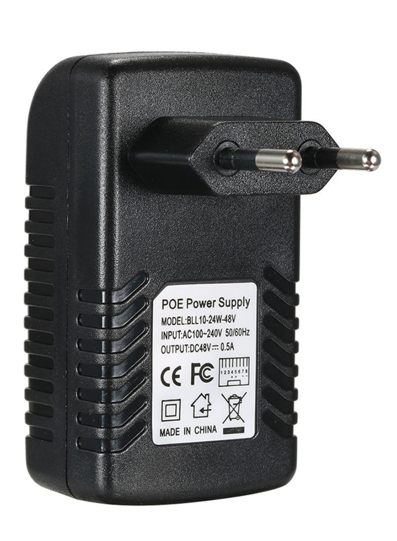 POE Injector Ethernet Power Supply Adapter Black 0.096 kg
