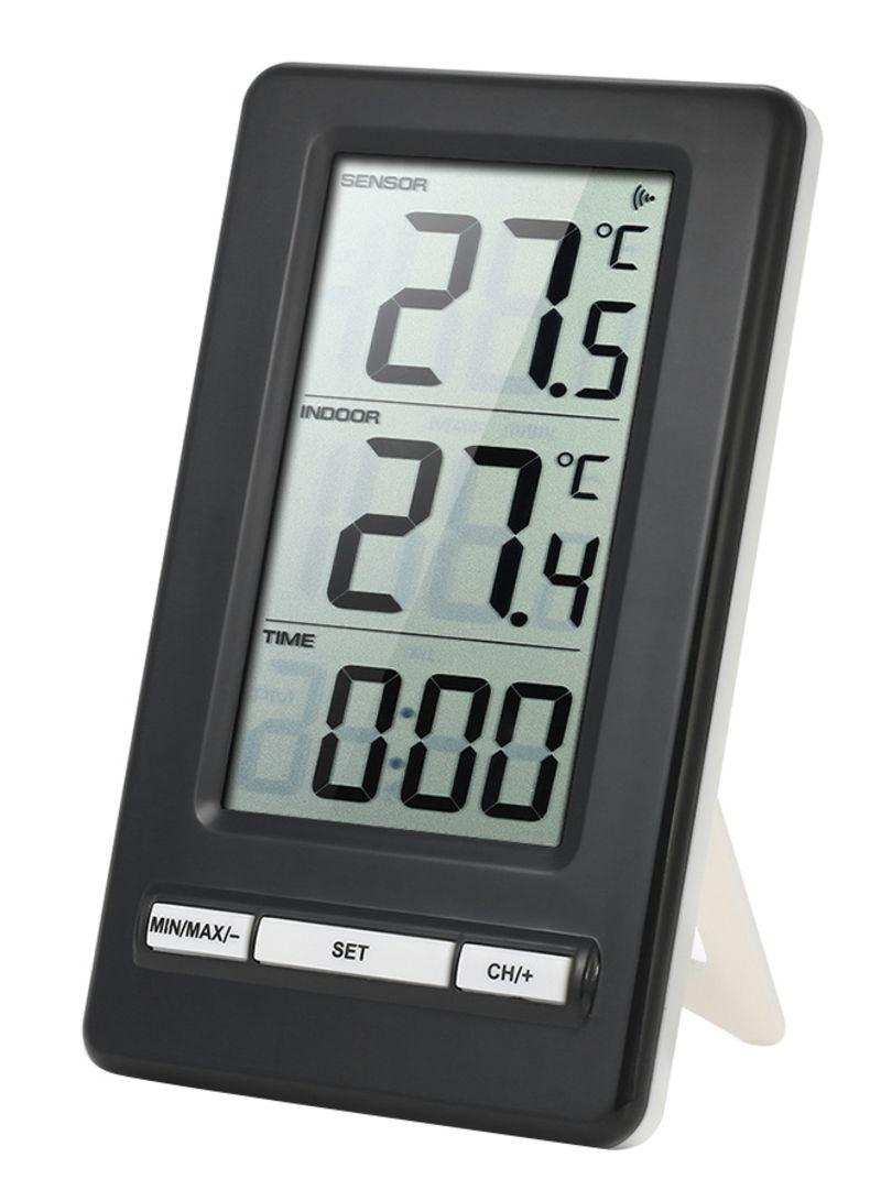 Digital Wireless Indoor & Outdoor Temperature Measurement Black&White