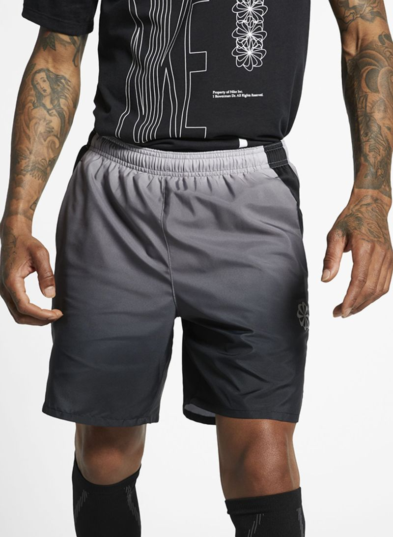 Challenger Printed Shorts Grey