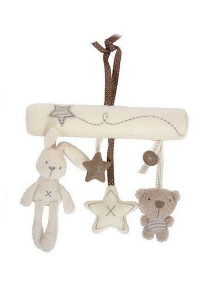 Baby Crid Newborn Bear Plush Stuffed Rattles For Stroller