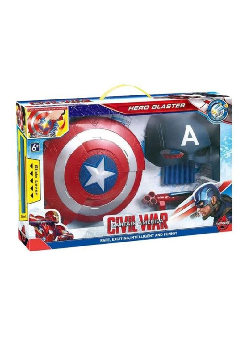 Captain America Shield Electric Water Bomb Soft Bullet Gun With Mask Toys