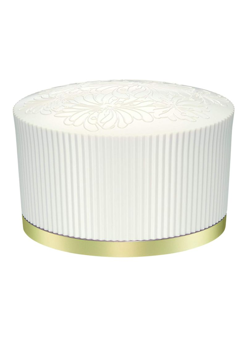 Loose Face Powder Box With Puff White