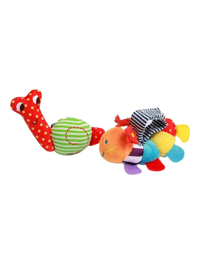 Baby Soft Plush Caterpillar And Snail Wrist Rattle Infant Hand Bell Toys