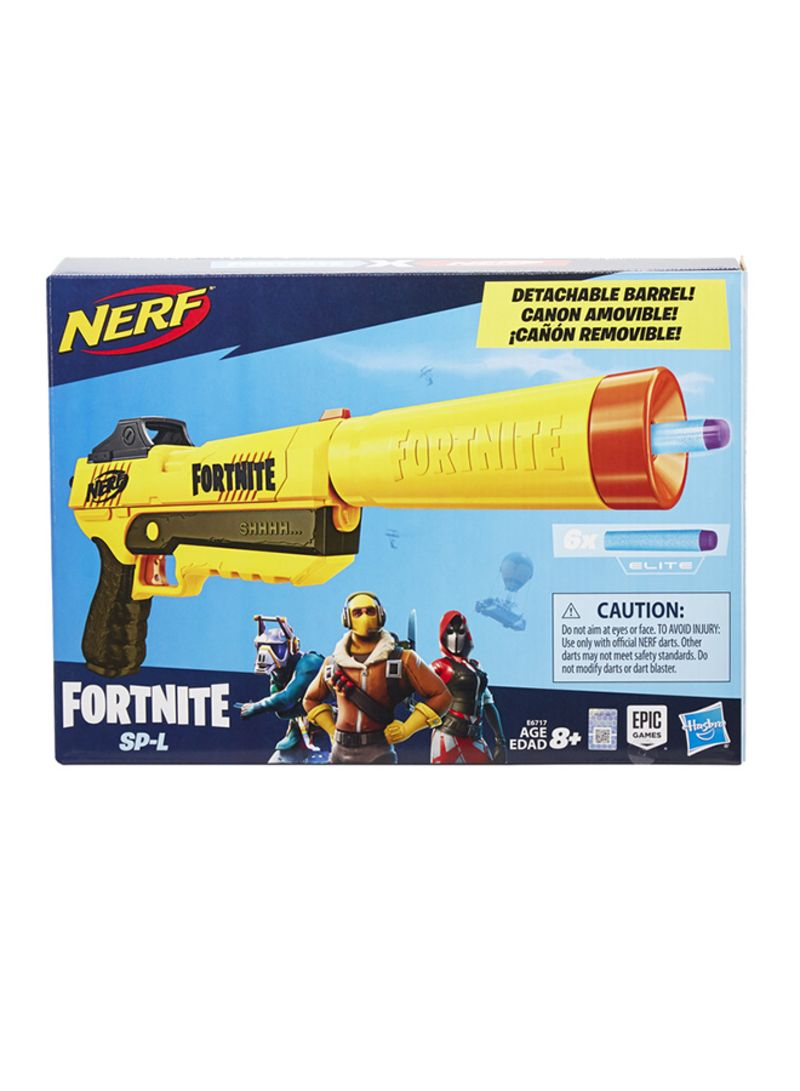 Fortnite Blaster With Detachable Barrel And 6 Official Fortnite Elite Darts