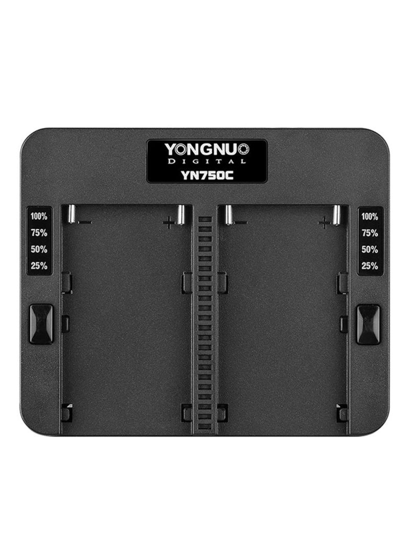 YN750C Battery Chargers For DSLR Black