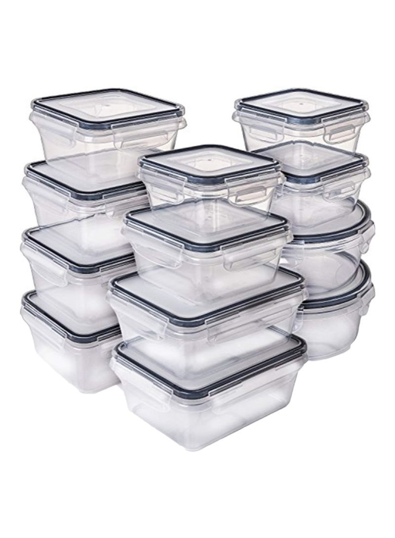 12-Piece Food Storage Container With Lid Clear