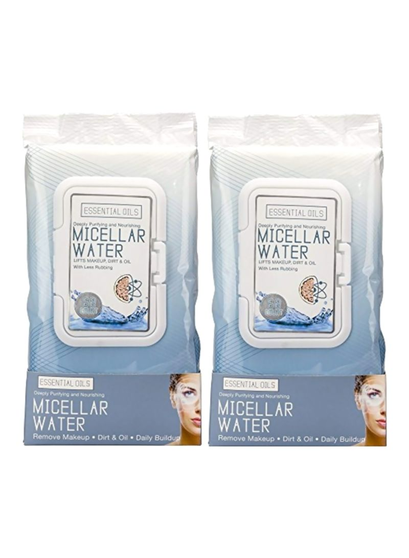 Pack Of 2 Makeup Remover Facial Wipes