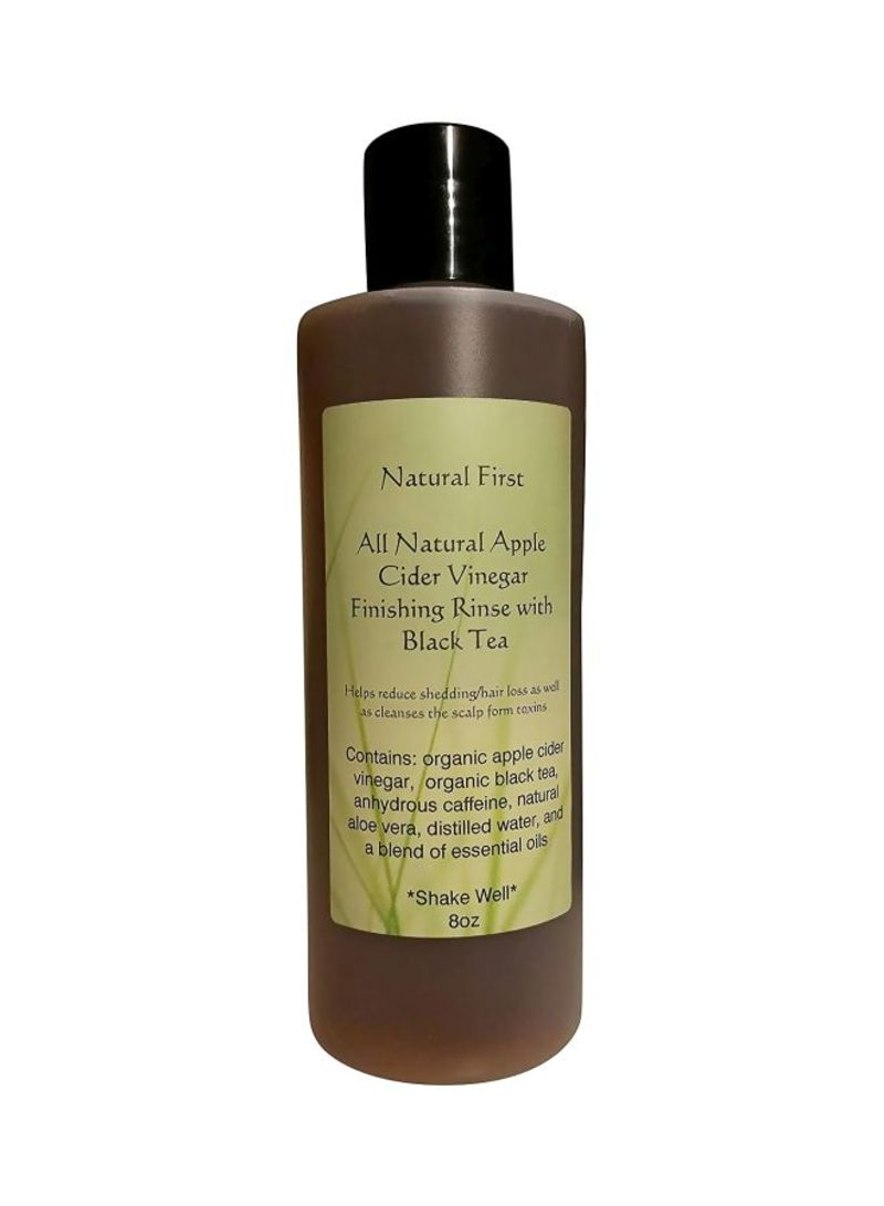 All Natural Organic Apple Cider Vinegar With Black Tea For Hair Loss Conditioner 8 ounce