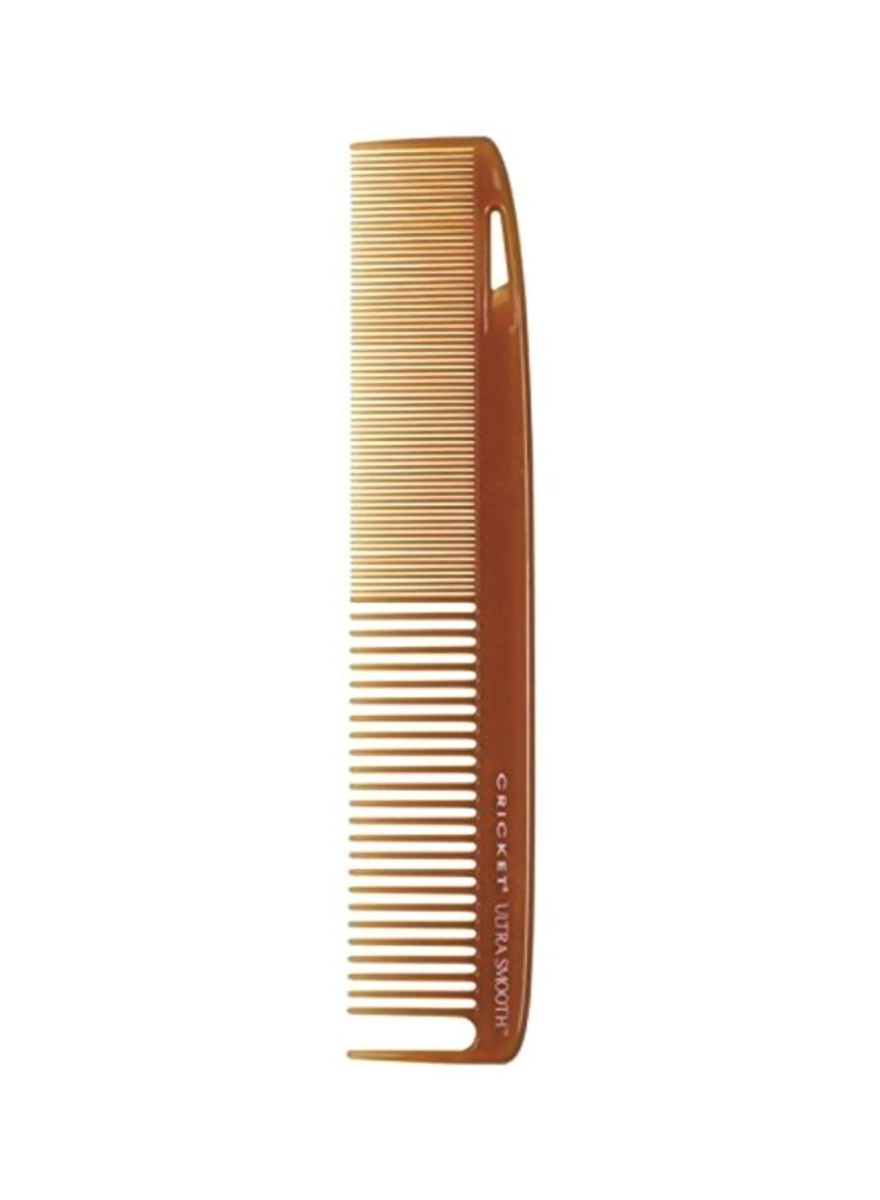 Ultra Smooth Plastic Comb Brown
