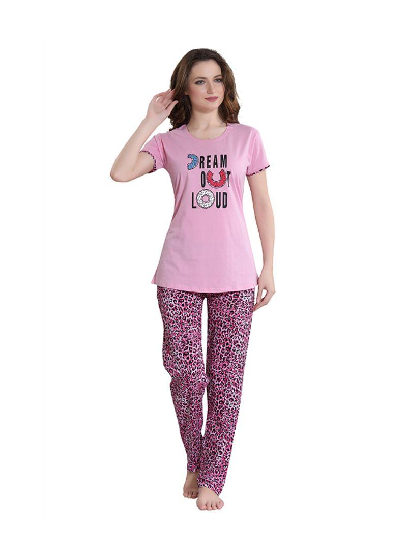 Sleepwear Pyjama Set Pink