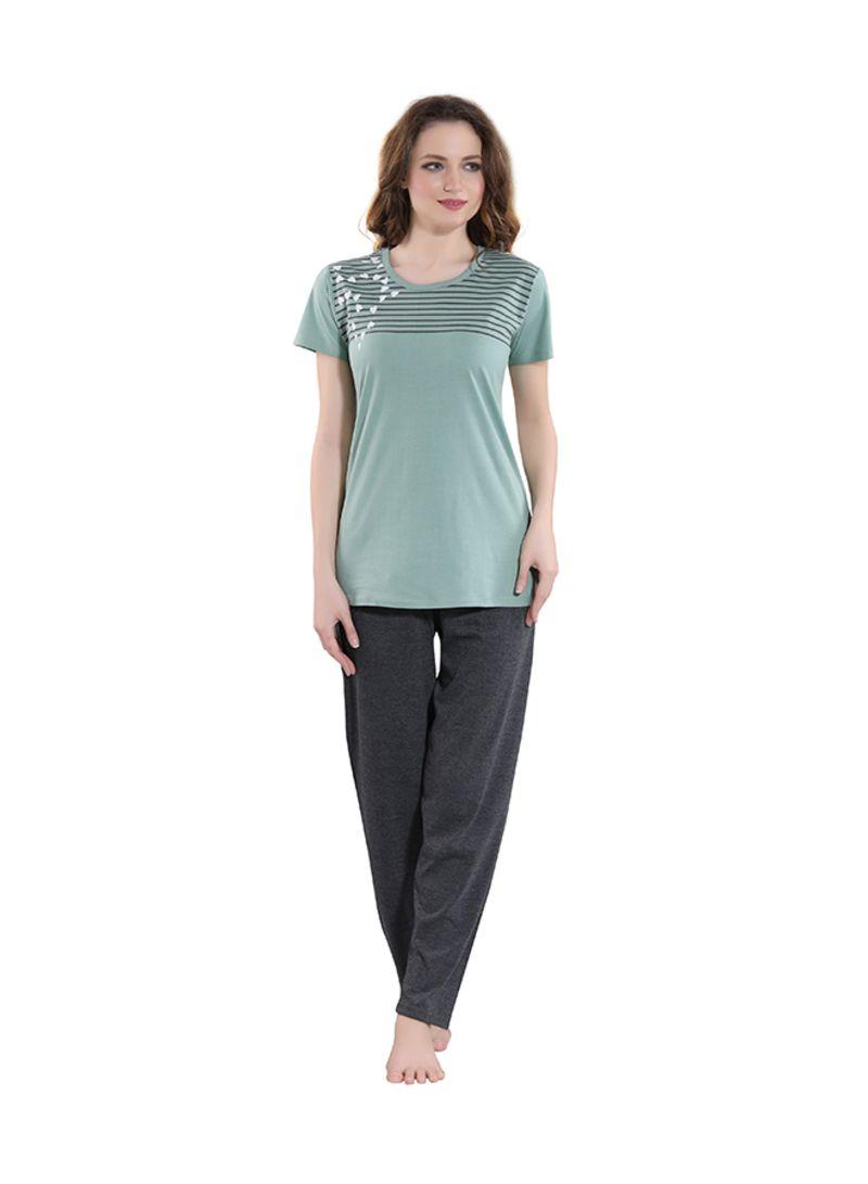 Sleepwear Pyjama Set Green