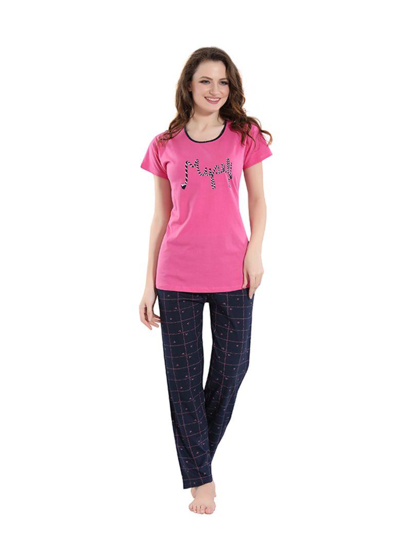 Sleepwear Pyjama Set Pink/Blue