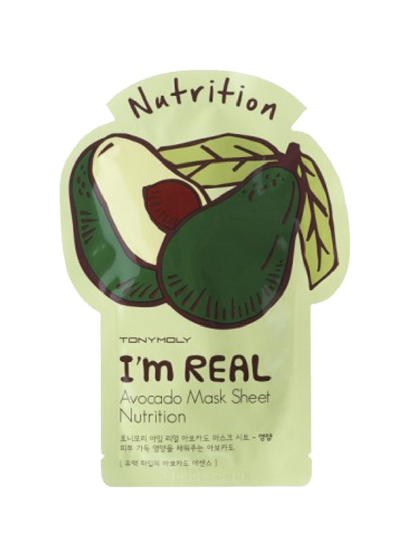 I'm Real Avocado Mask Nutrition Sheet 21 g