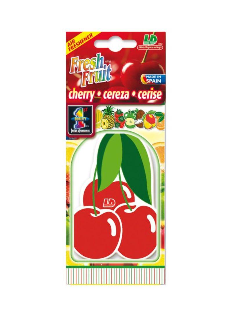 Paper Air Freshener - Cherry (Smile Emoticon)