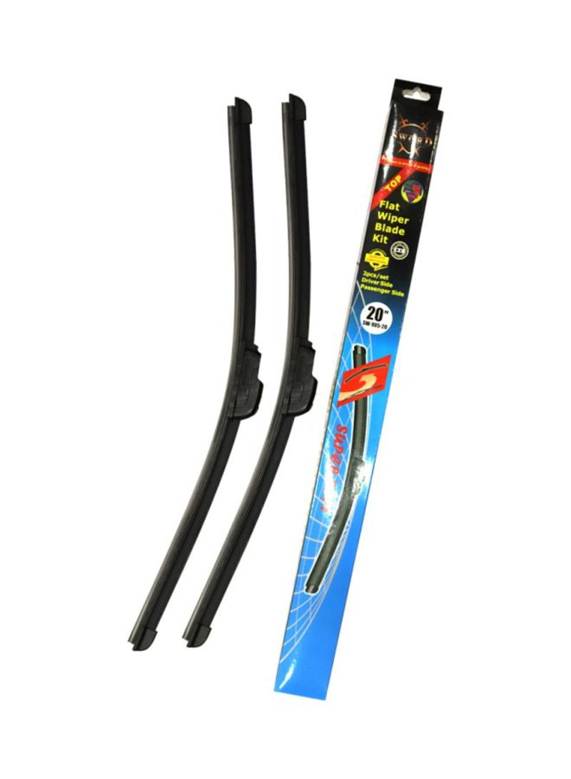 2- Piece Silicone Wiper Blade Set