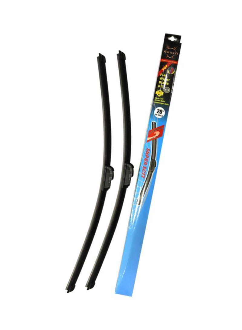 2- Piece Silicone Wiper Blade Set