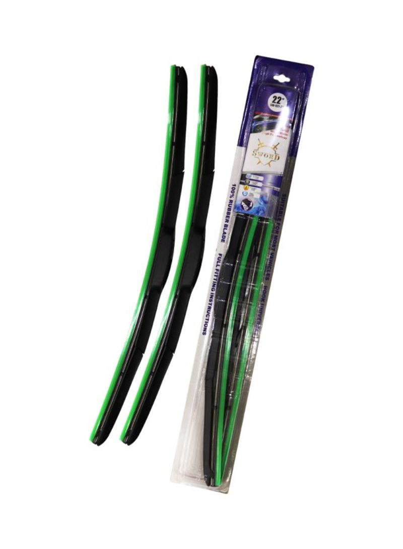 2- Piece Hybrid Wiper Blade Set