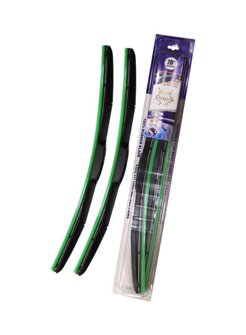 2- Piece Hybrid Wiper Blade Set