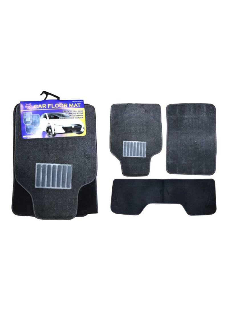 3-Piece Grey Car Floor Mat Set (Premium)